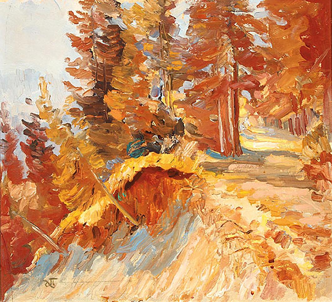 Антін Павлось. Осінній пейзаж; олія, полотно