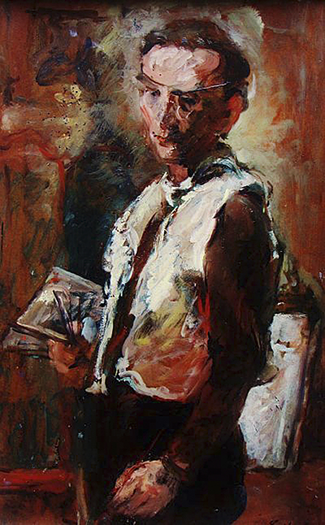 Давід Сейфер. Автопортрет з палітрою, 1939; олія, полотно