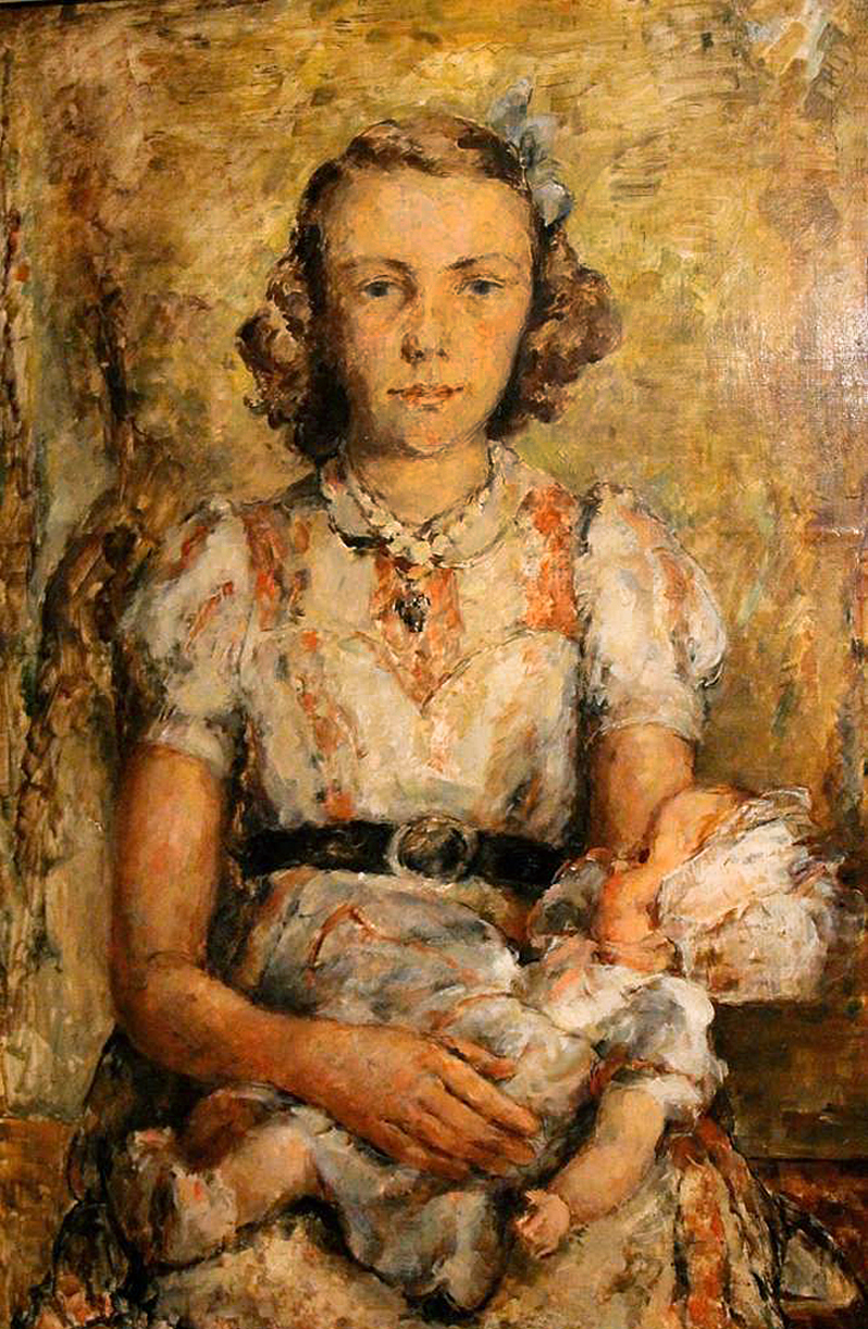 Давід Сейфер. Дівчина з лялькою, 1930; олія, полотно