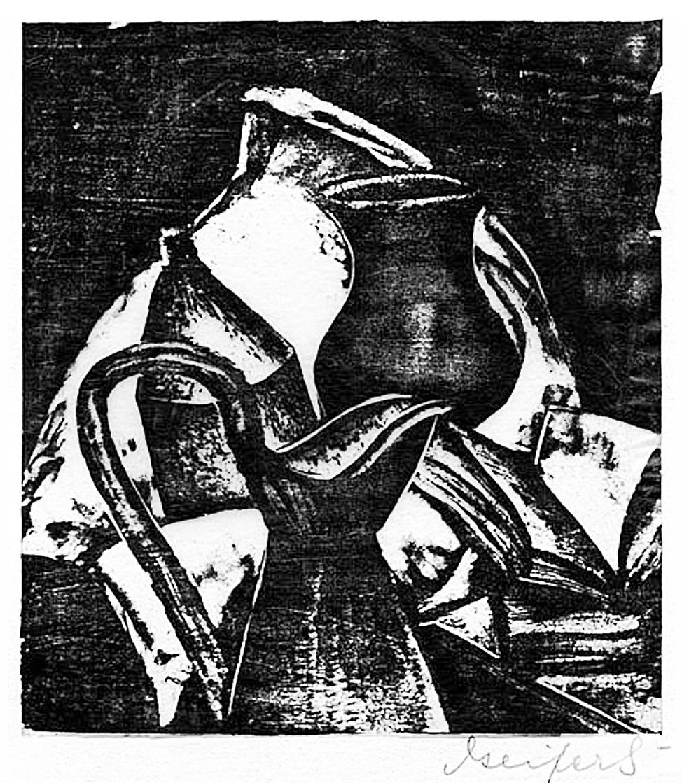 Давід Сейфер. Натюрморт з глечиком, 1925, дереворит