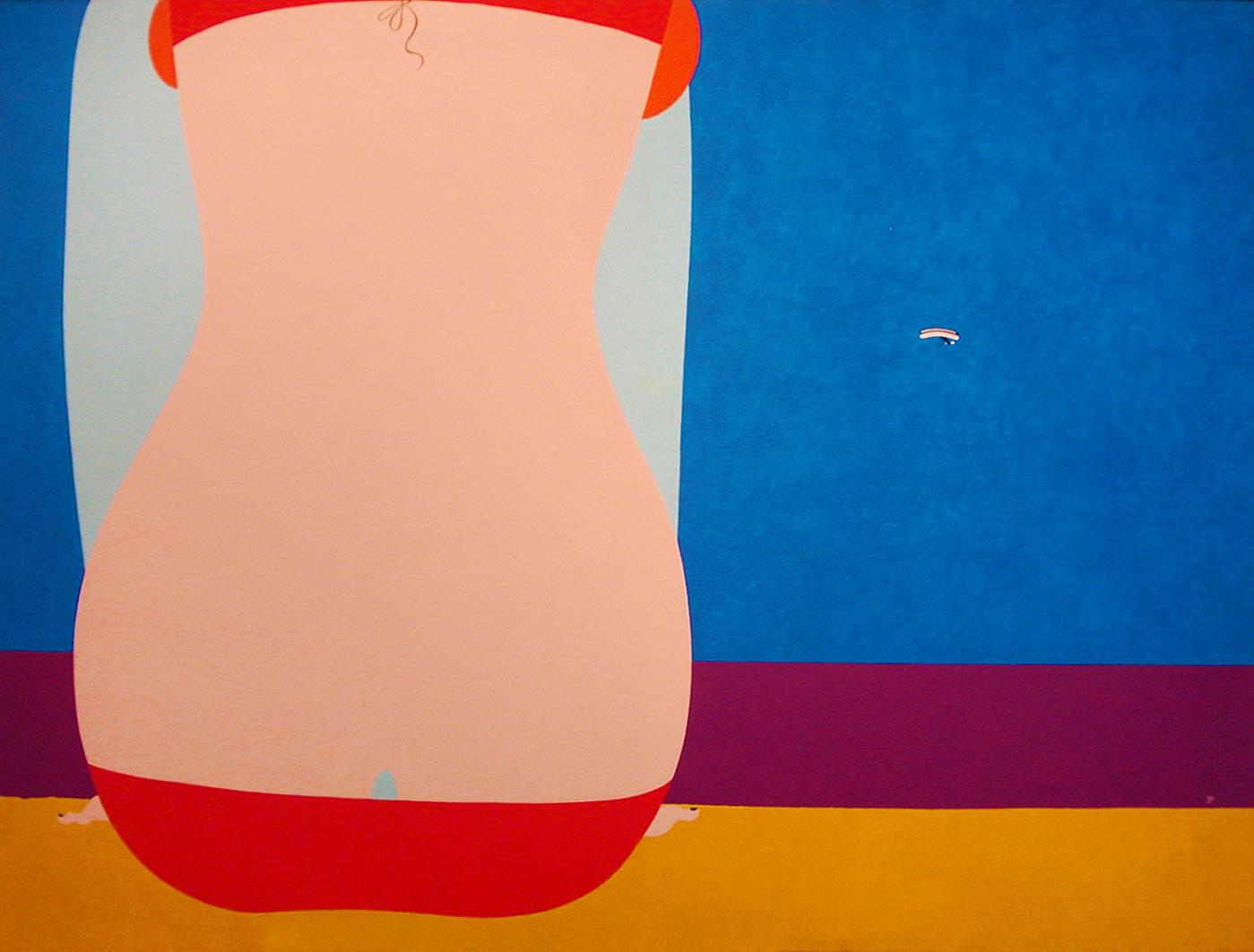 Емануель Проуллер. Оголена спина та планер, 1969; олія, полотно