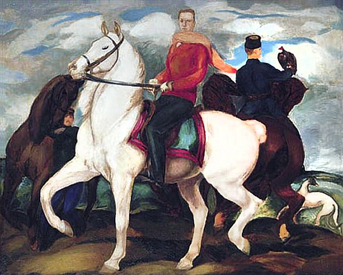 Євген Гепперт. Автопортрет на коні, 1924; полотно, олія