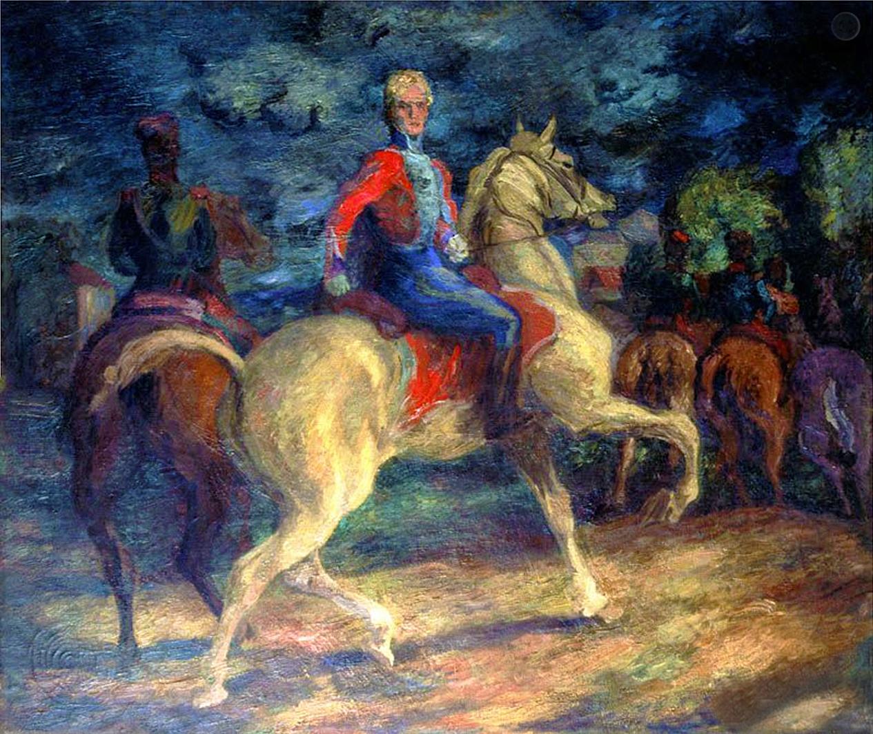 Євген Гепперт. Вершники, 1939; полотно, олія