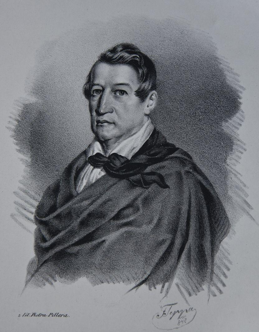 Францішек Томаш Тепа. Актор Ан Бенса, 1847; літографія