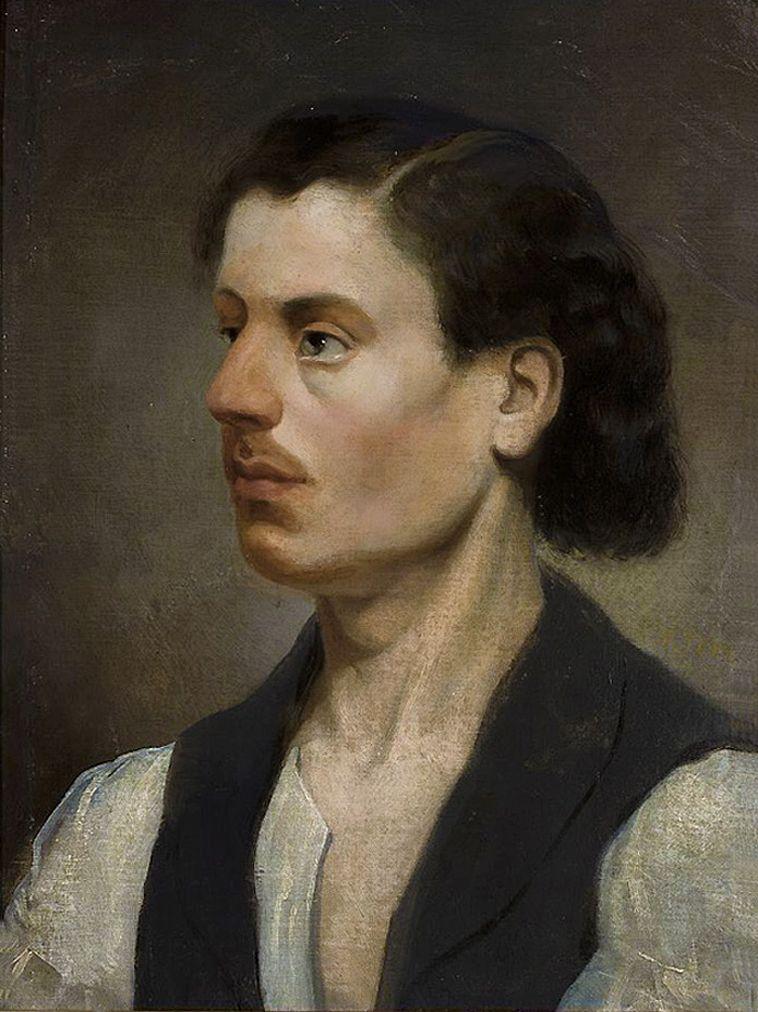 Францішек Томаш Тепа. Автопортрет, 1860; полотно на картоні, олія; NMW