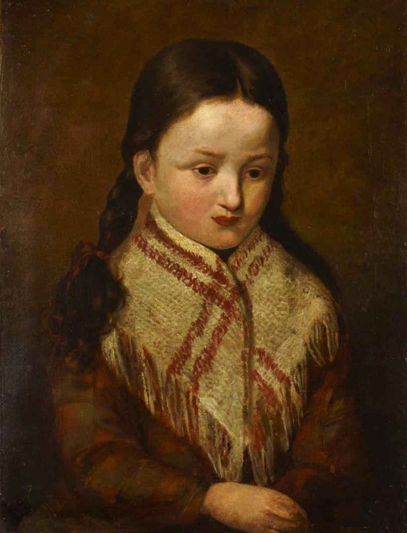 Францішек Томаш Тепа. Портрет дівчини; картон, олія
