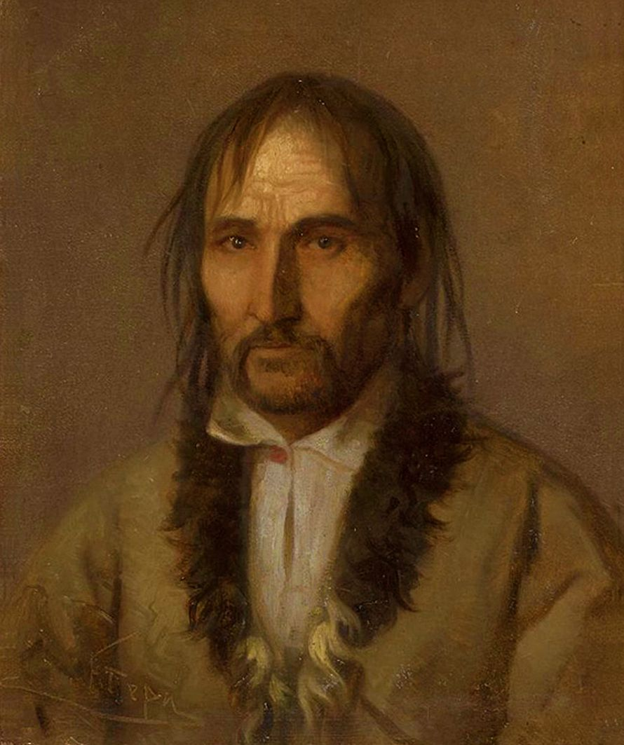 Францішек Томаш Тепа. Портрет горця; картон, олія; NMW