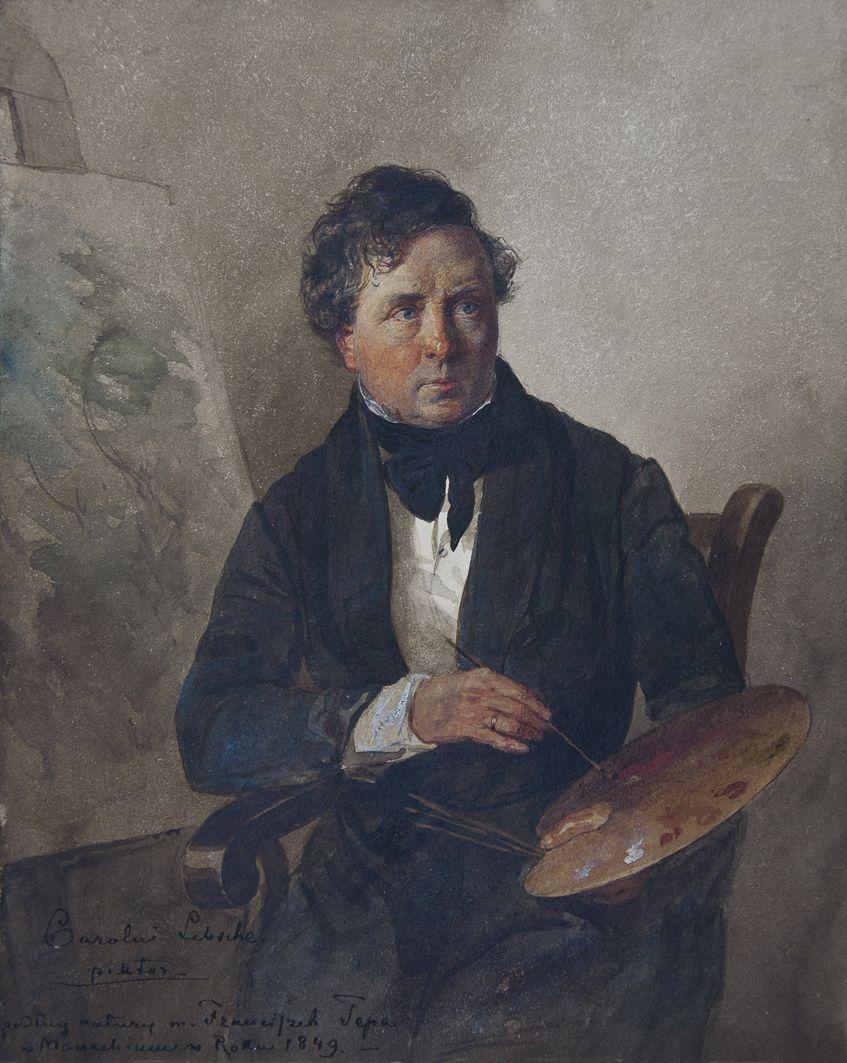 Францішек Томаш Тепа. Портрет художника, 1849, Рим