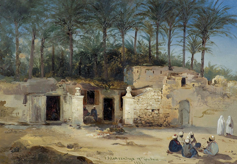 Францішек Томаш Тепа. В Єгипті, 1852; картон, олія