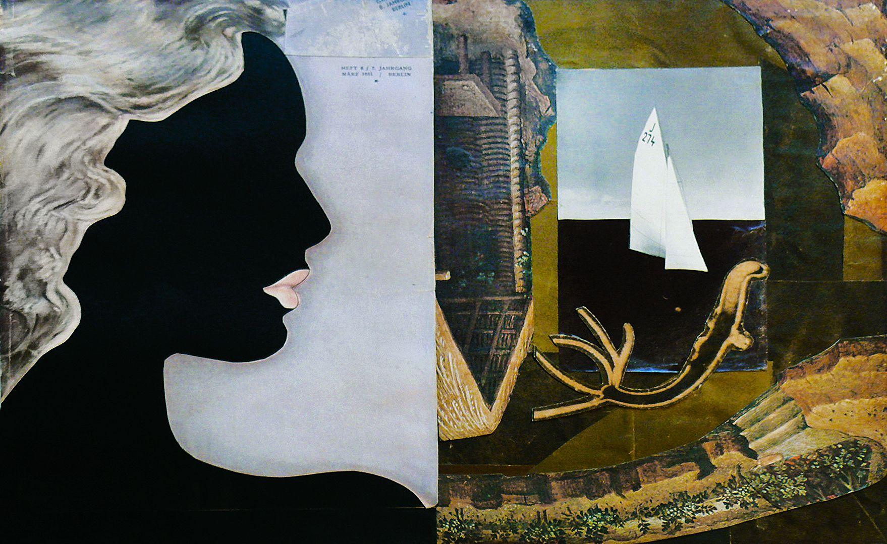 Єжи Яніш. Композиція з чорним профілем, 1933; NMWr