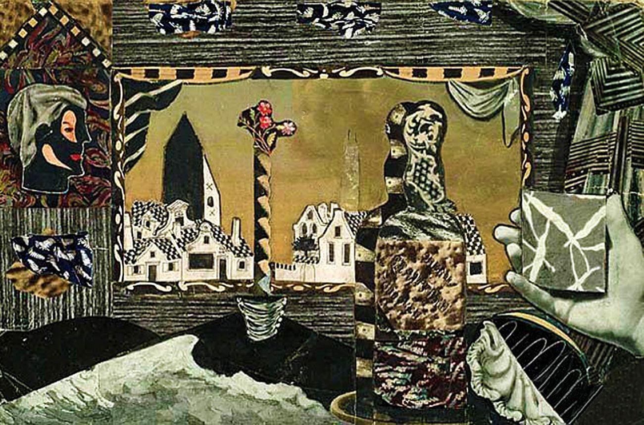 Єжи Яніш. Композиція, 1958; колаж