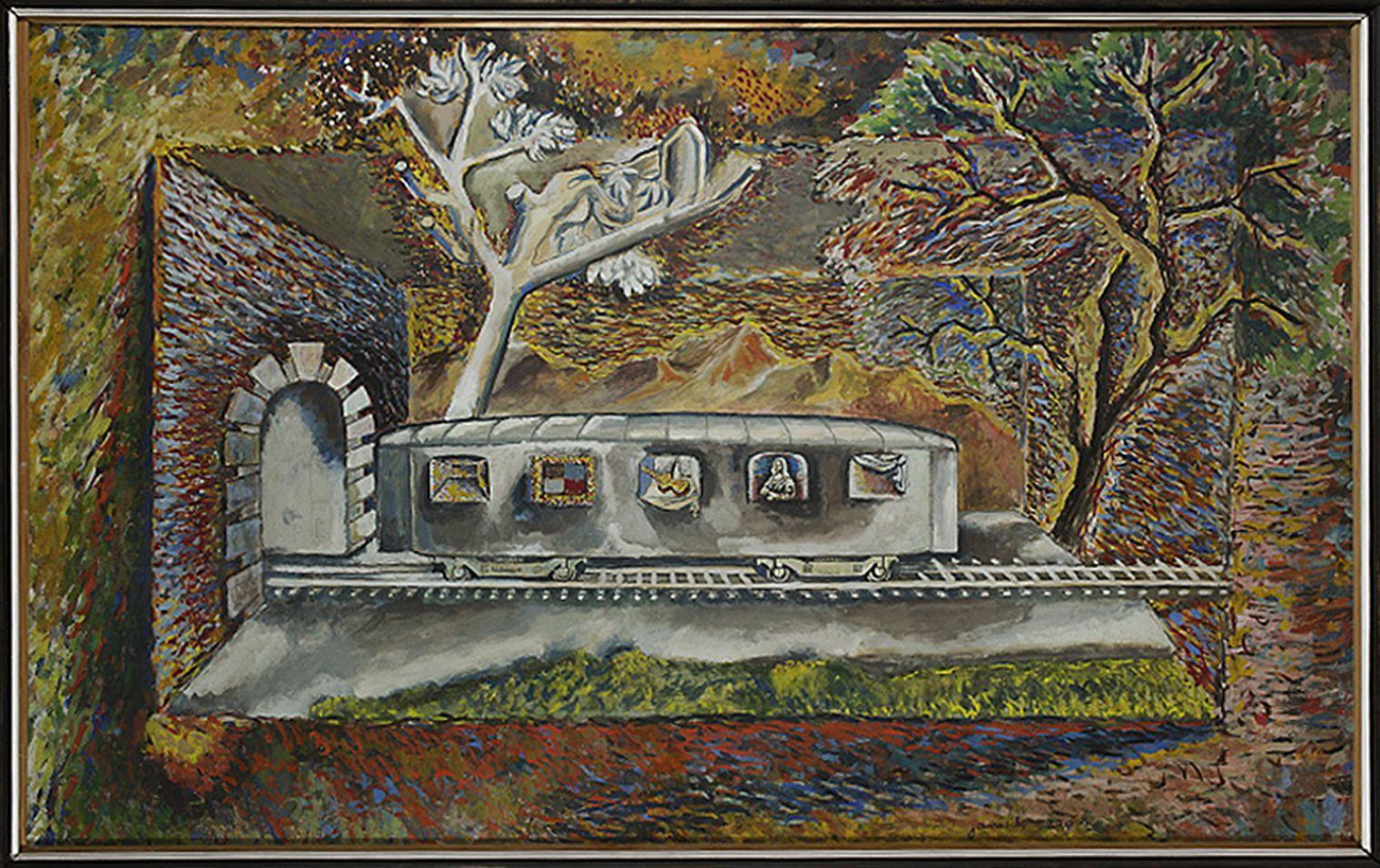 Єжи Яніш. Мона Ліза в сновидінні, 1939;  папір, гуаш; NMW