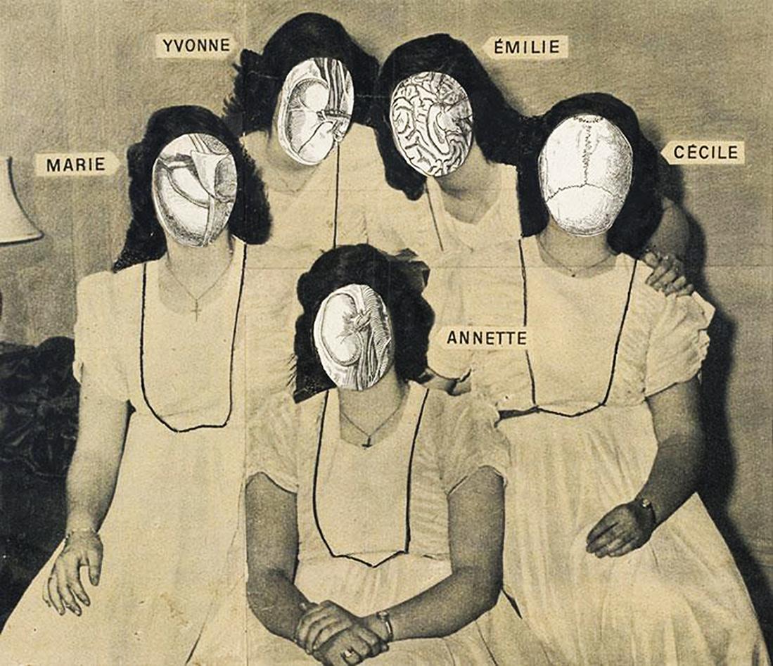 Єжи Яніш. Сестри, 1950-ті; колаж; NMW