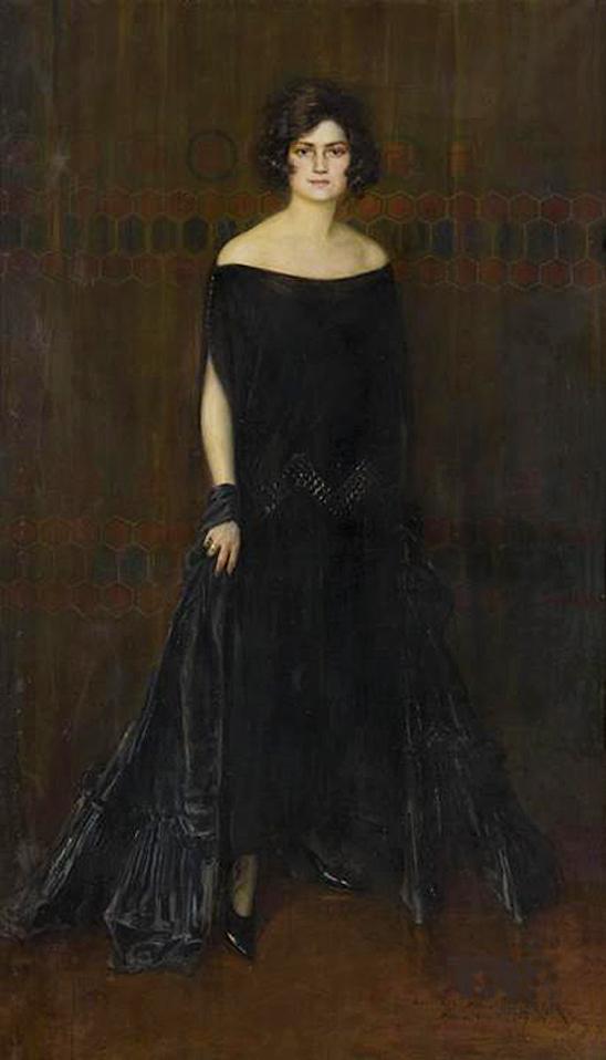 Леонард Вінтеровський. Місіс Штернберг, 1924; олія, полотно