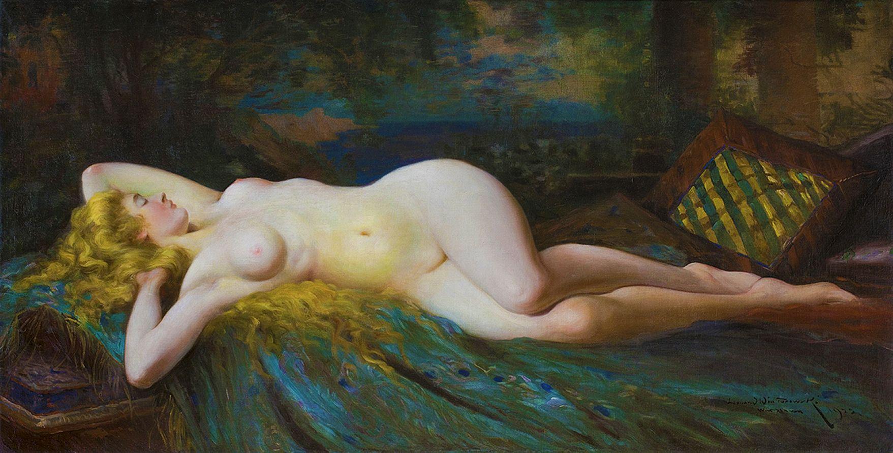 Леонард Вінтеровський. Ню, 1922; олія, полотно