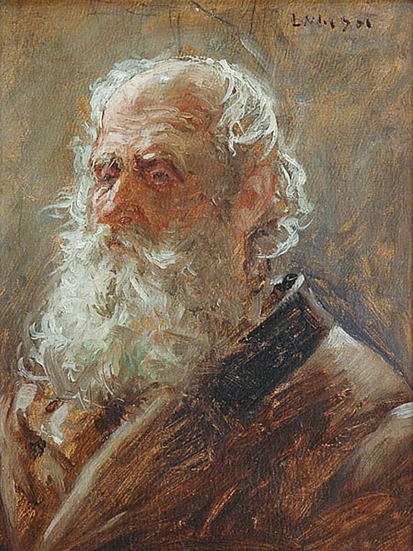 Леонард Вінтеровський. Старий с бородою, Львів, 1901; олія, картон