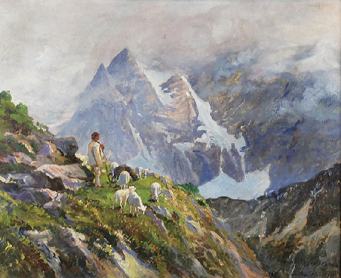 Леонард Вінтеровський. Татри - вид з долини Белої води, 1918; олія, полотно
