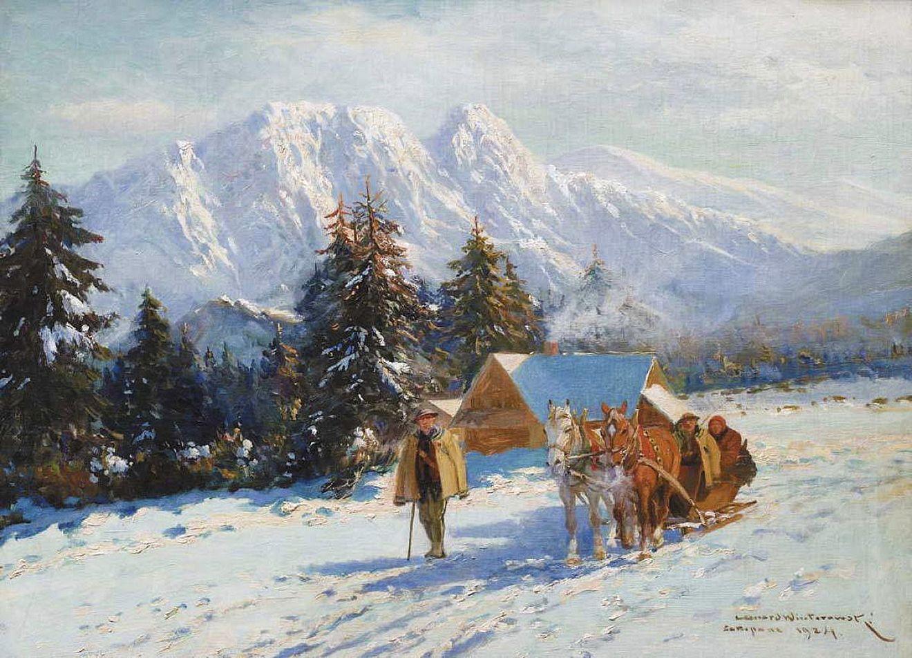 Леонард Вінтеровський. Закопане, 1924; олія, полотно