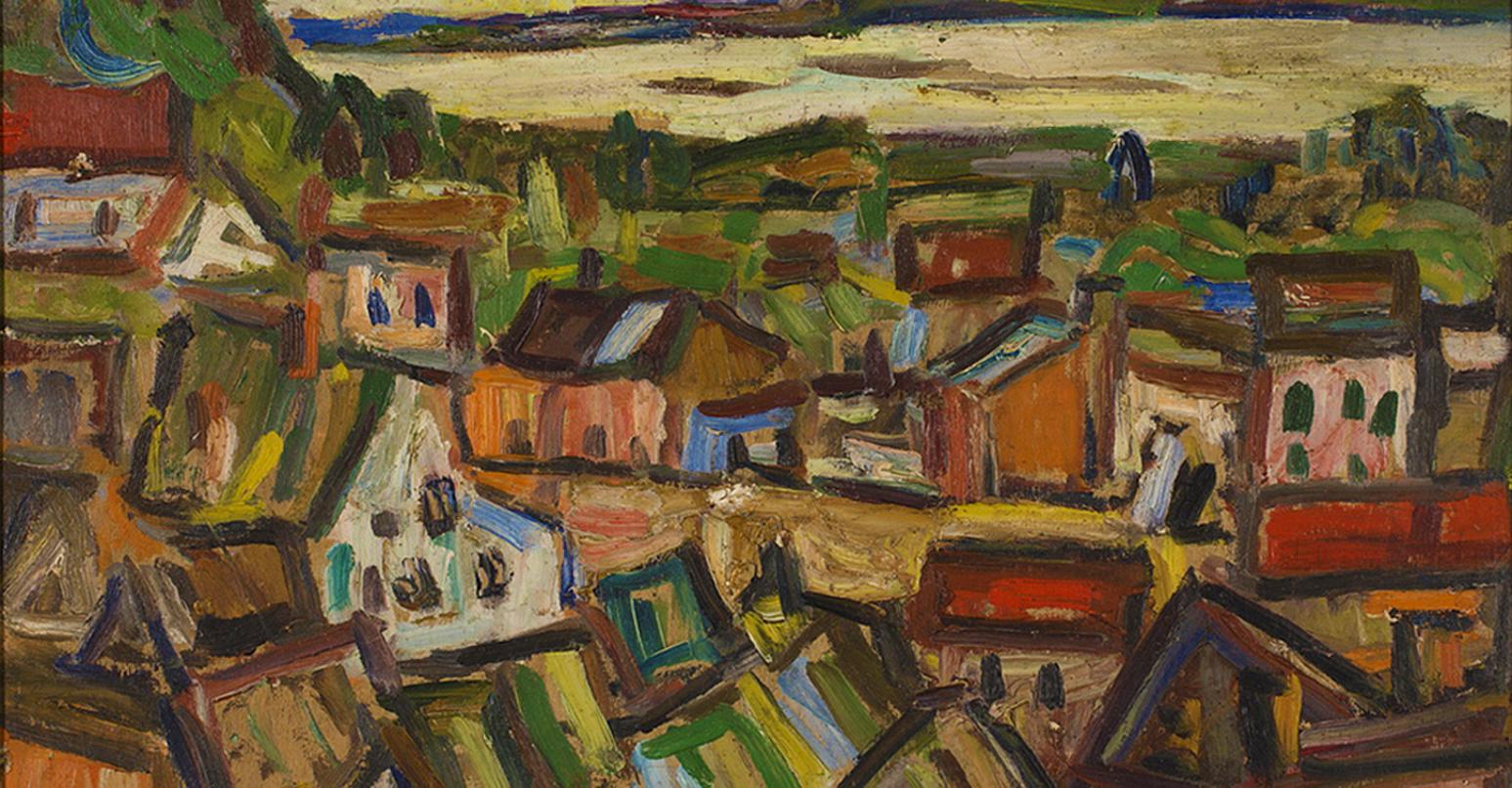Саша Блондер. Казімеж на Віслі, 1930-ті; фанера, олія