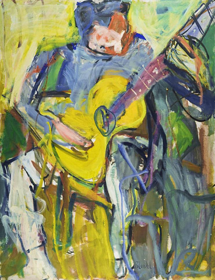 Саша Блондер. Гітарист, 1947; полотно, олія