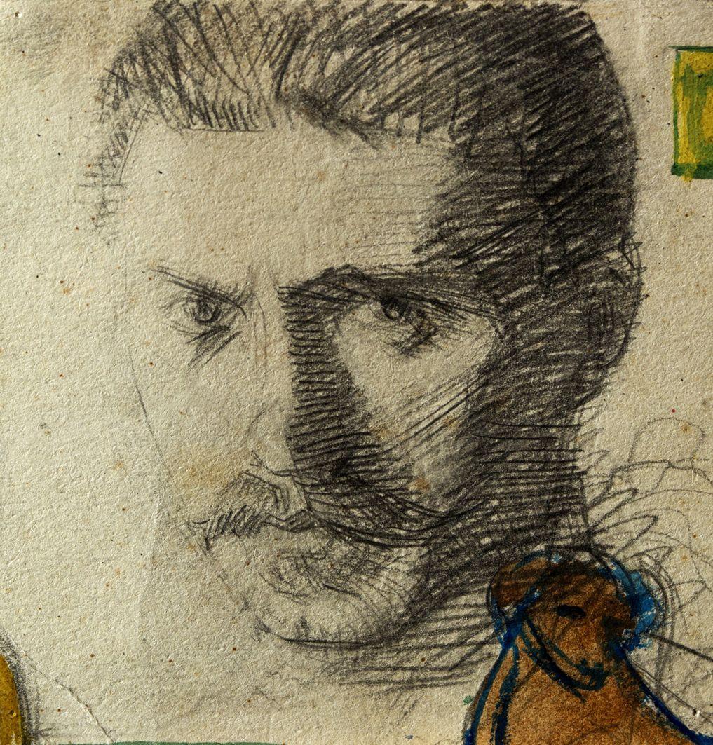 Михайло Бойчук. Автопортрет, 1910-і; папір, олівець; ЛНГМ