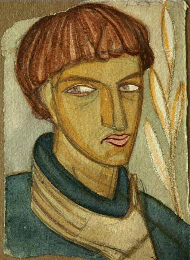Михайло Бойчук. Василь Седляр, 1927; папір, акварель