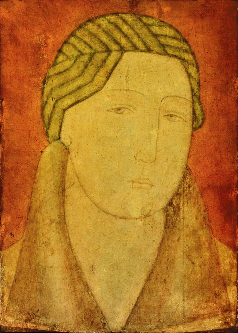 Михайло Бойчук. Портрет жінки, 1910-і; папір, темпера; ЛНГМ