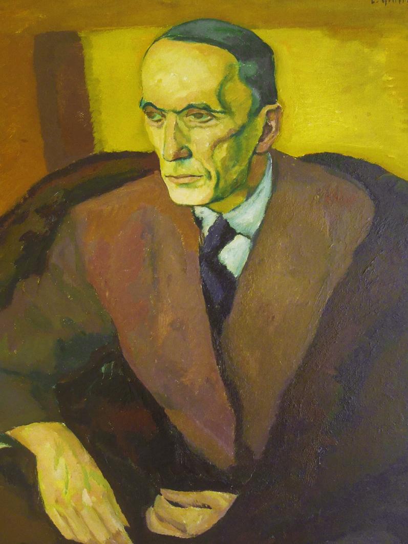 Леопольд Ґоттліб. Андре Жід; олія, полотно; NMP