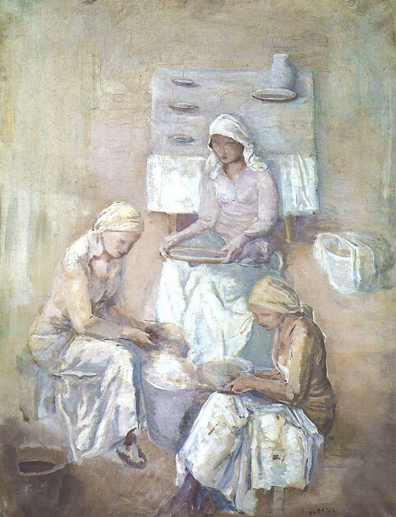 Леопольд Ґоттліб. Білі жінки, 1933; олія, полотно; NMW