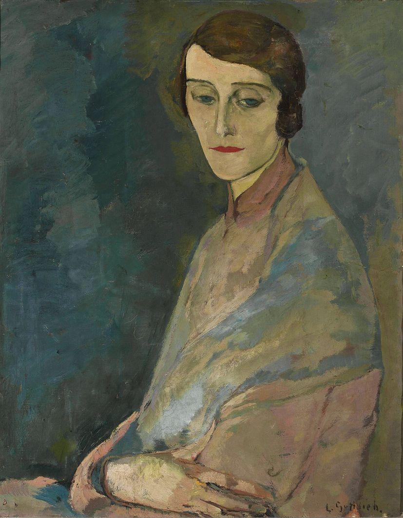 Леопольд Ґоттліб. Едварда Воронецька, 1928; олія, полотно; NMW