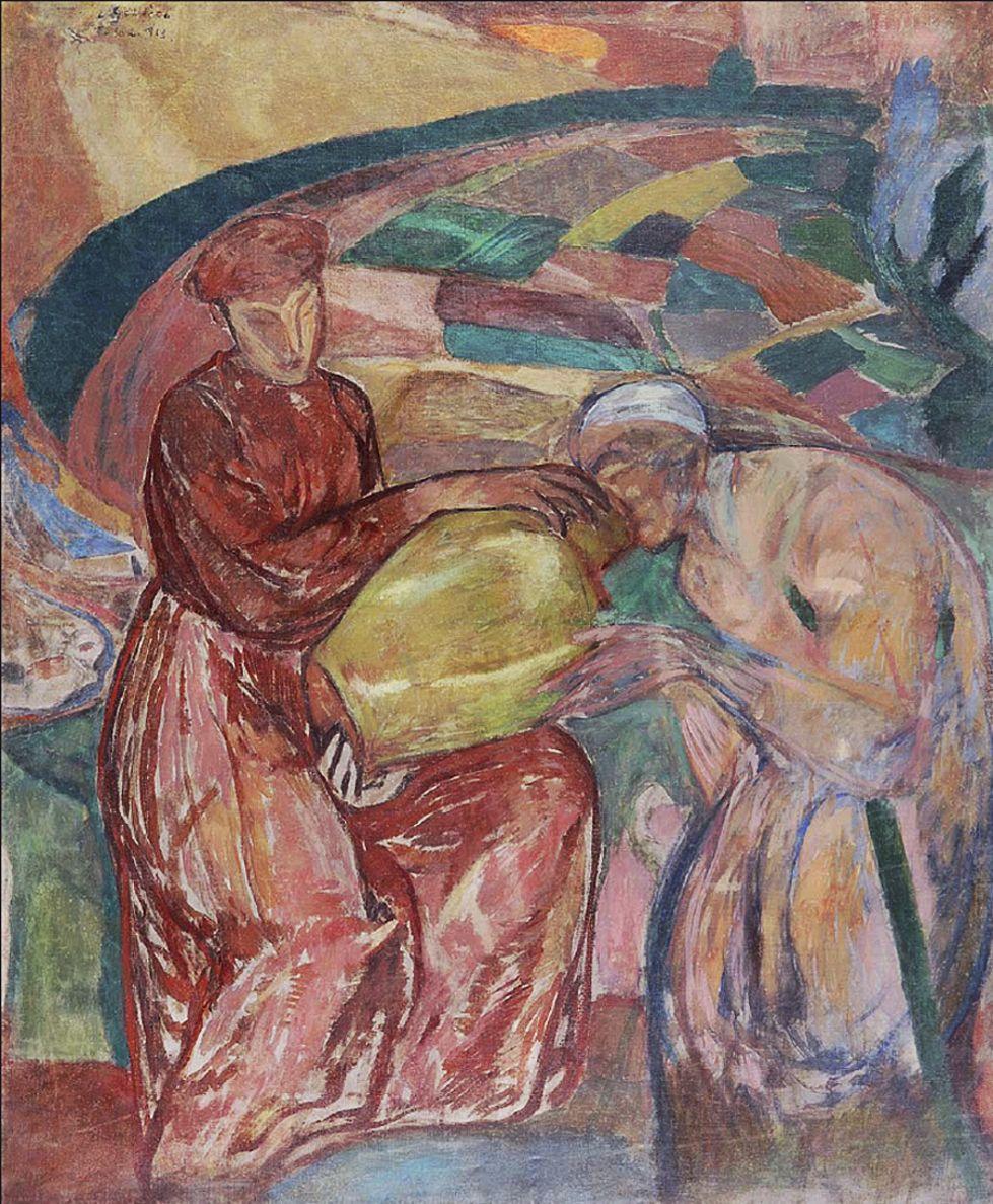 Леопольд Ґоттліб. Милосердя, 1913; олія, полотно