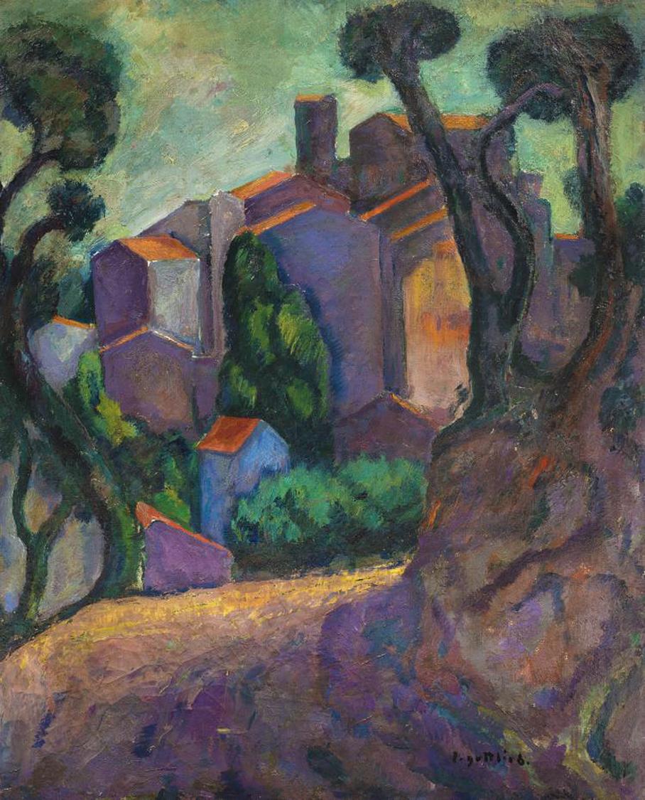 Леопольд Ґоттліб. Пейзаж опівдні, 1910; олія, полотно