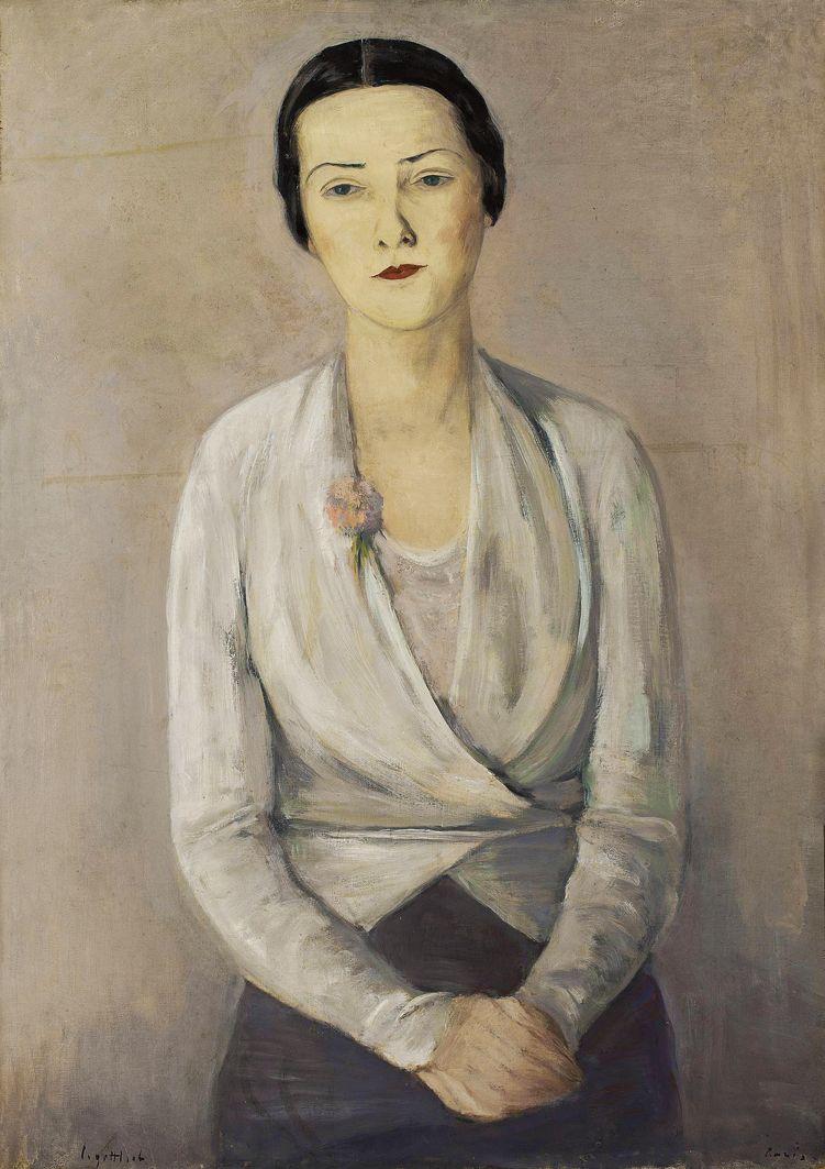 Леопольд Ґоттліб. Портрет Блешинської, 1934; олія, полотно; NMW