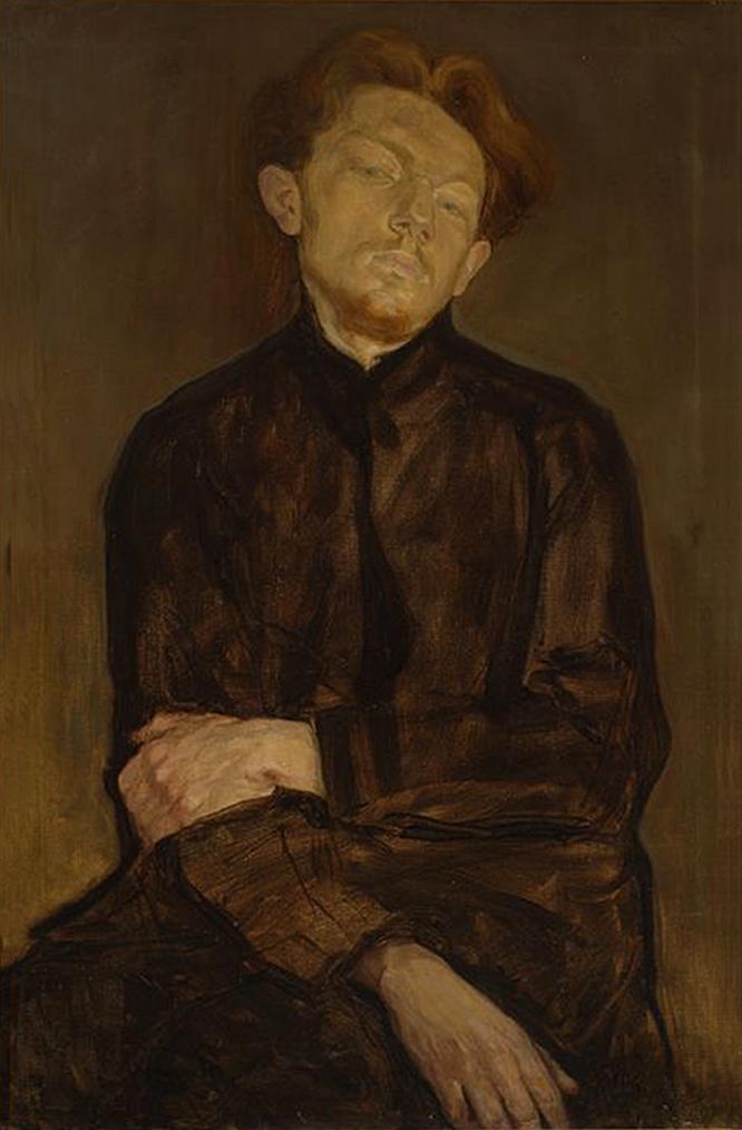 Леопольд Ґоттліб. Вацлав Боровський, 1910; олія, полотно; NMW