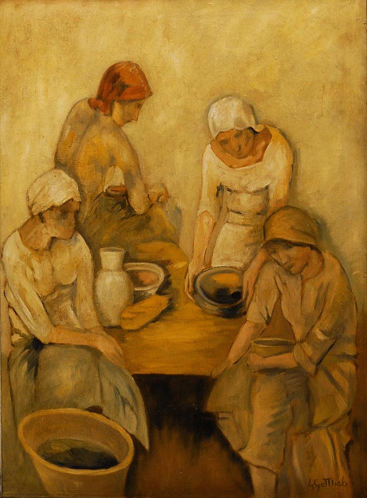 Леопольд Ґоттліб. Жінки на кухні, 1908