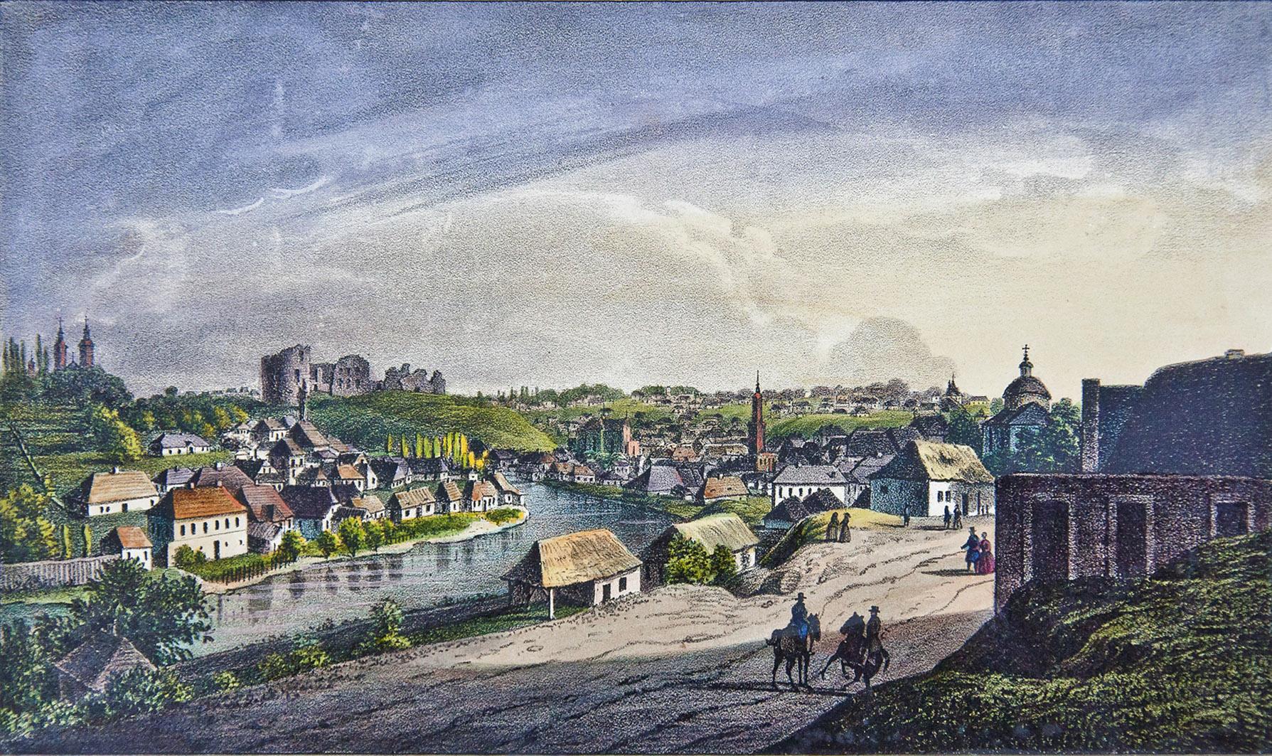 Мацей Боґуш Зиґмунт Стенчинський. Бучач на Стрипі, 1846; літографія
