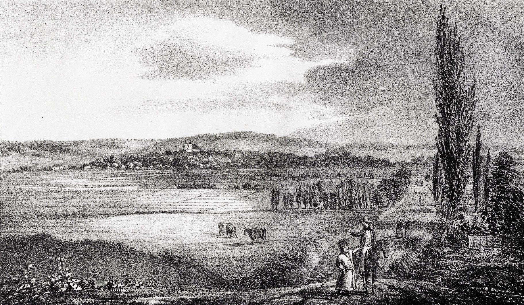 Мацей Боґуш Зиґмунт Стенчинський. Глиняни (Золочів), 1847; літографія