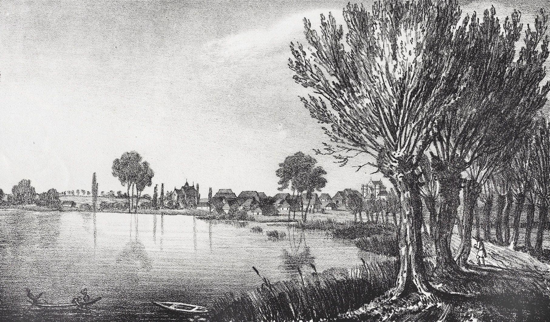 Мацей Боґуш Зиґмунт Стенчинський. Краковець (Яворів), 1847; літографія