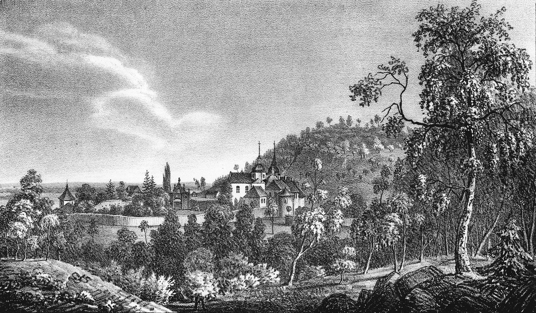 Мацей Боґуш Зиґмунт Стенчинський. Крехівський монастир, 1847; літографія