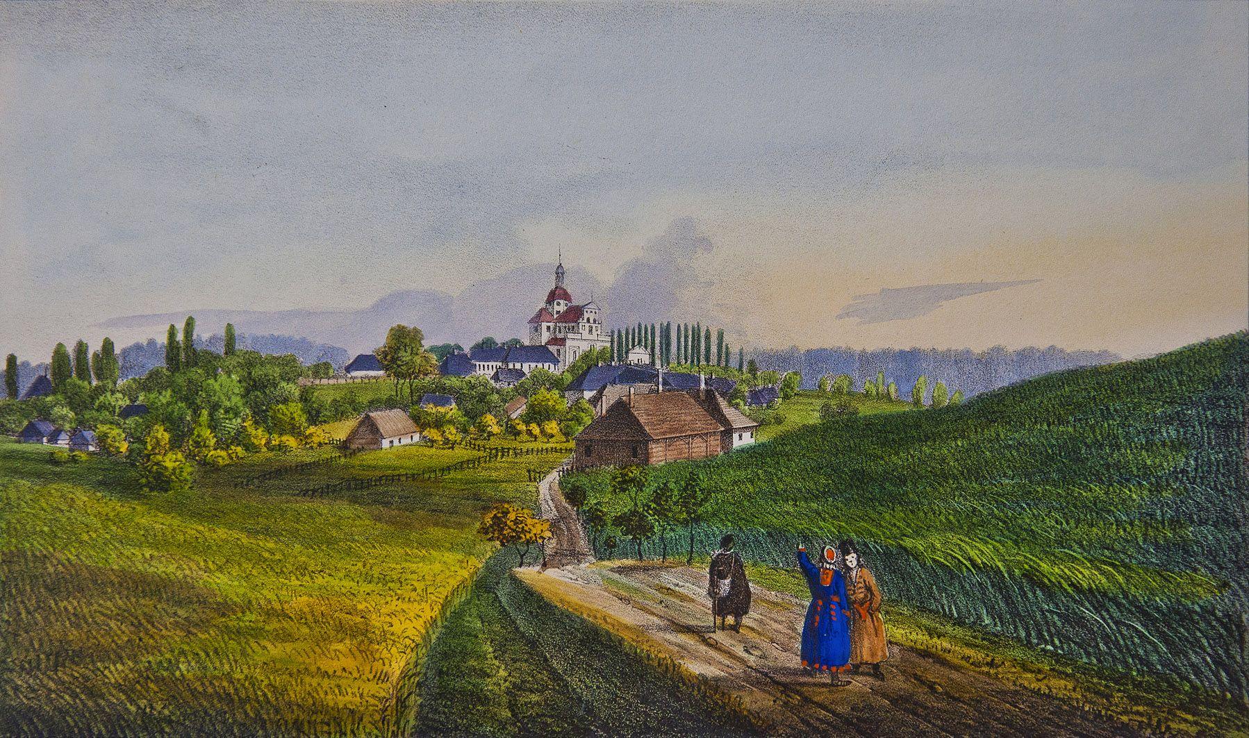 Мацей Боґуш Зиґмунт Стенчинський. Милятин (Городок), 1847; літографія