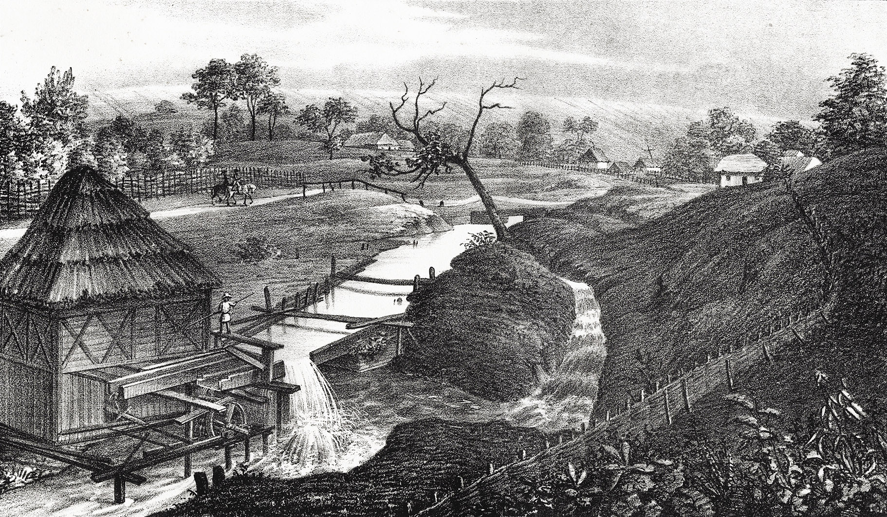 Мацей Боґуш Зиґмунт Стенчинський. Витік Західного Буга, с. Верхобуж (Золочів), 1847; літографія