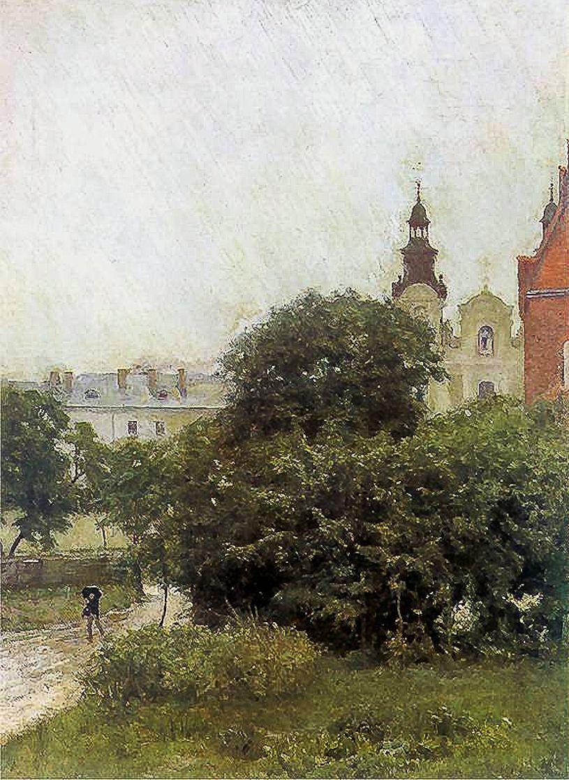 Станіслав-МечиславДембіцький. Дощ, Львів, 1892; олія, полотно; NMK