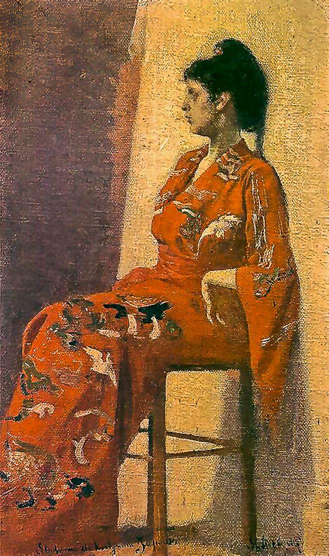 Станіслав-МечиславДембіцький. Японка, 1900; олія, полотно; ЛНГМ