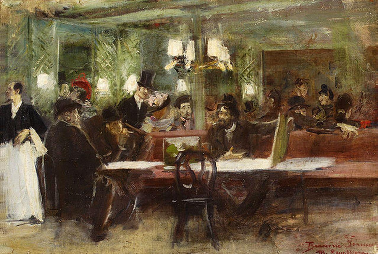 Станіслав-МечиславДембіцький. Кафе Париж, 1891; олія, полотно; NMW
