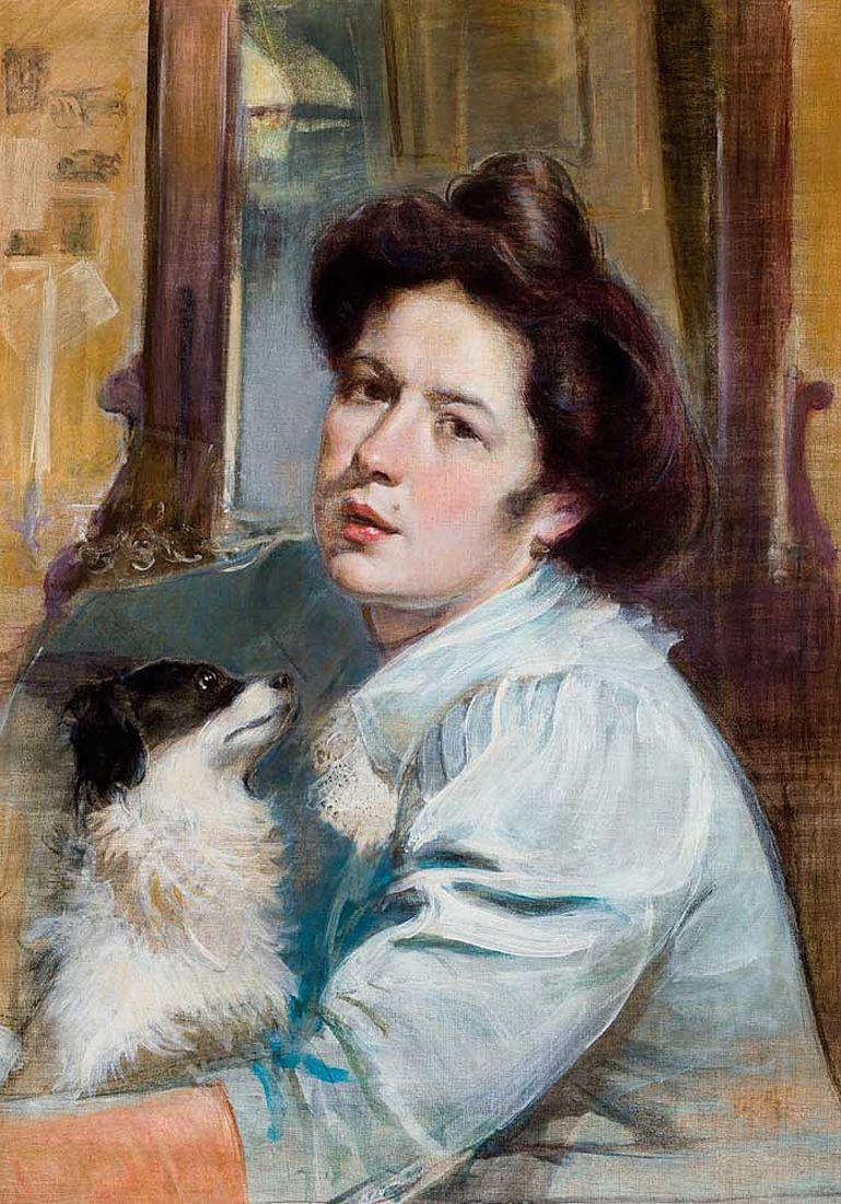 Станіслав-МечиславДембіцький. Портрет дружини, 1900 б,акв; NMK