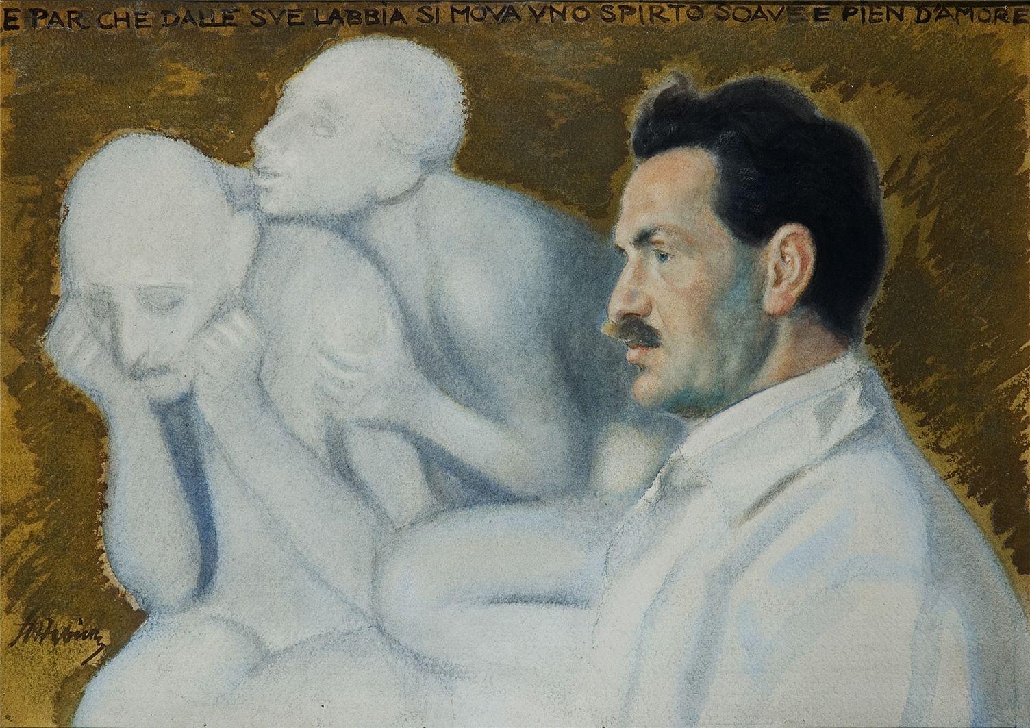 Станіслав-МечиславДембіцький. Портрет лікаря, 1920; папір, акварель; MSL