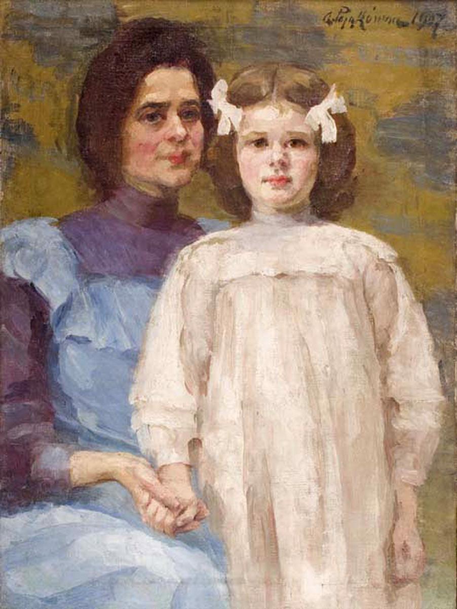 Анєля Пайонкувна. Автопортрет з дочкою, 1907