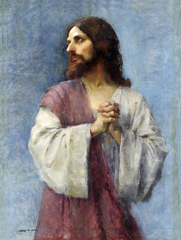 Анєля Пайонкувна. Христос у молитві, 1895; олія, полотно