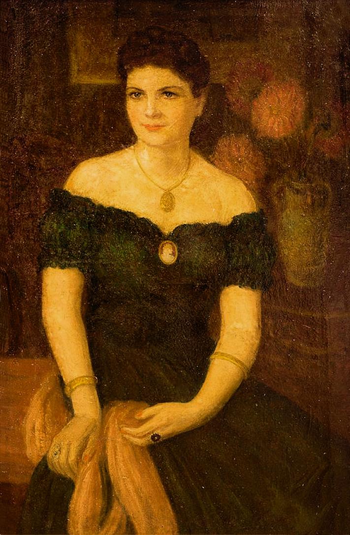 Марія Водзіцька. Портрет дами; олія, полотно