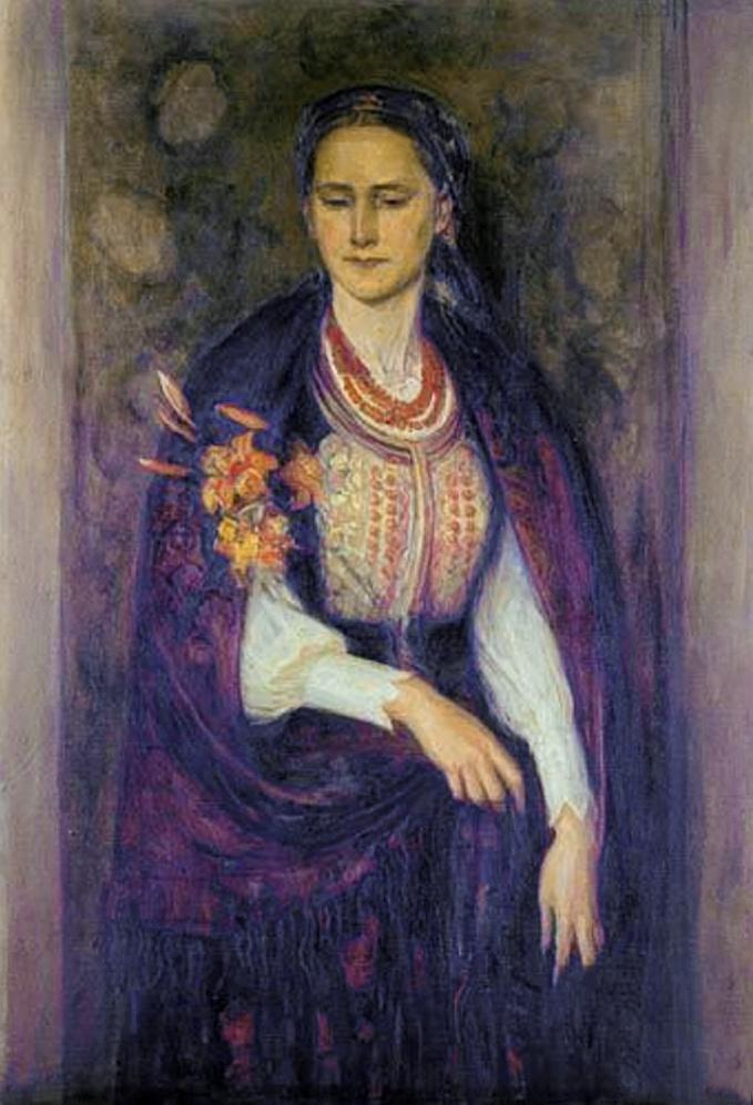 Марія Водзіцька. Жіночий портрет; олія, полотно